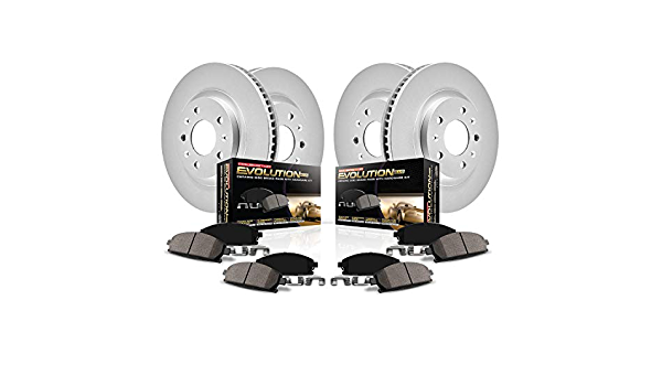 Power Stop CRK8437,Z17 Front and Rear Coated Rotor Kit-Coated Brake Rotors /& Ceramic Brake Pads