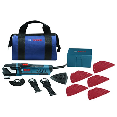Bosch StarlockPlus Oscillating Multi-Tool Kit with Snap-In Blade Attachment - Multi Bosch Drill