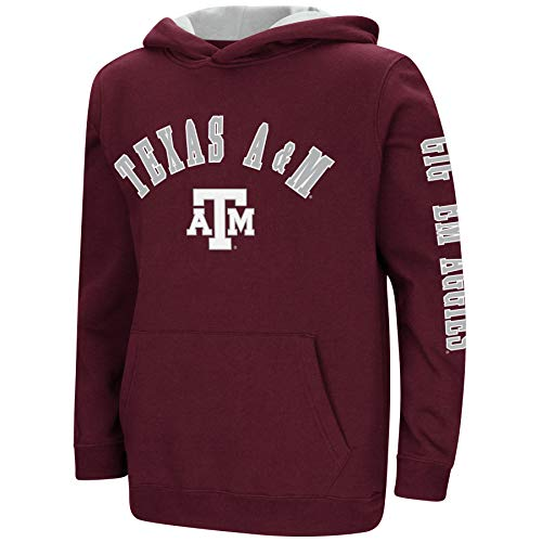 Colosseum NCAA Youth Boys-Crunch Time-Hoody Pullover-Texas A&M Aggies-Maroon-Youth Large