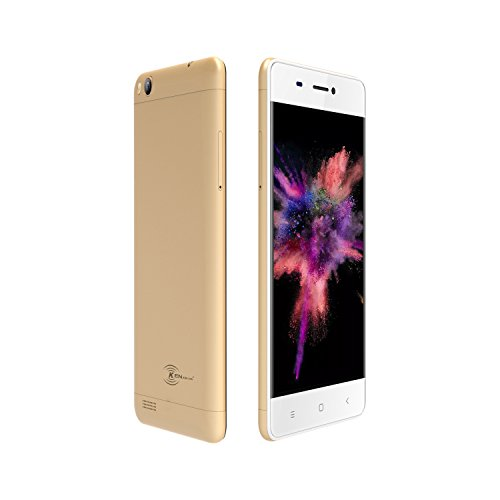 KEN XIN DA V6 Dual SIM Unlocked Smartphone 4.5 Inches Display Android 7.0 8G+1G Memory GSM 3G Cell Phones (Gold) … by KEN XIN DA (Image #1)