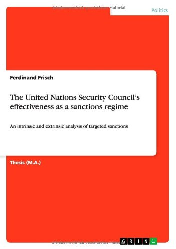 Read Online The United Nations Security Council's effectiveness as a sanctions regime pdf
