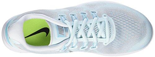 Nike Running Wmns RN Mujer Glacier Plata Azul Turquesa Free Zapatillas 2017 de Metalizada 402 para TTgrq