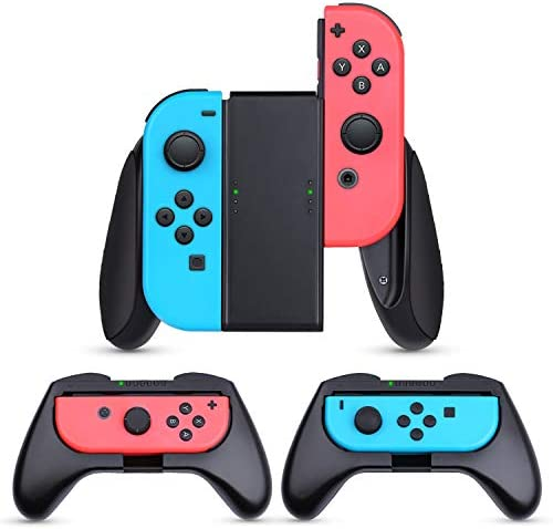 HEYSTOP Grip Compatible with Nintendo Switch Grip 3 Pack Wear Resistant Game Switch Controller Handle Case Kit for Nintendo Switch Joy Con, Black