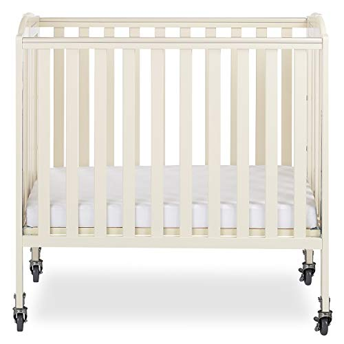 Dream On Me 3-in-1 Folding Portable Crib, French White, Large