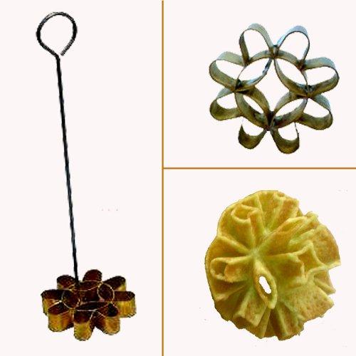 A Special Dok Jok Brass Mold No.4 Make Magic Thai Cookies;diameter 6.5 Cm