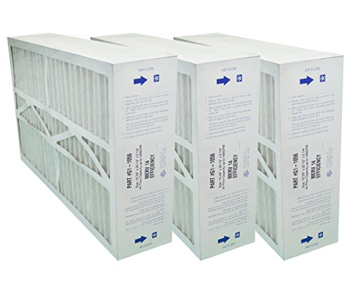 G1-1056 GENUINE ORIGINAL 16x25x5 (Actual Size:15-3/8 X 25-1/2 X 5-1/4) MERV 14 GOODMAN, ELECTRO-AIR, FIVE SEASONS, CARRIER MEDIA FILTERS CASE OF 3 FILTERS ()