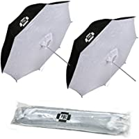 PBL Photo Studio 42 Reflective Umbrella Softboxes Photo Lighting Umbrella Set of Two (2)