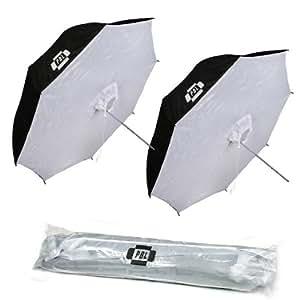 "PBL Photo Studio 40"" Reflective Umbrella Softbox Set Two"