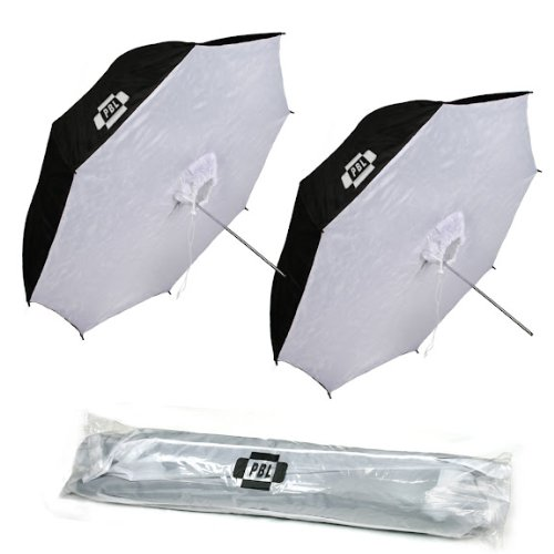 PBL Photo Studio 42'' Reflective Umbrella Softbox Photo Lighting Umbrella, Set of Two Umbrellas Steve Kaeser Photographic Lighting & Accessories by PBL