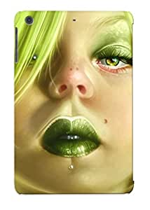 Ellent Design Pierced Girl Listening To Music Case Cover For Ipad Mini/mini 2 For New Year's Day's Gift
