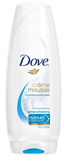 Dove, Nourishing Body Wash, Crème Mousse, Gentle Exfoliating, 18 Ounce (Pack of 3) (Dove Gentle Exfoliating Body Wash)