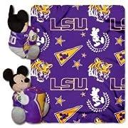 LSU Tigers NCAA - Mickey Disney 40x50 Cuddly Fleece Baby Throw Blanket Hugger Wrap
