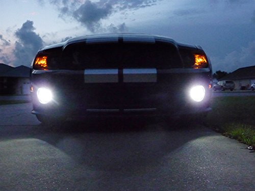 BlingLights 2005-2012 Ford Mustang Shelby GT500 Bumper Halo Fog Lamps Driving Lights Kit