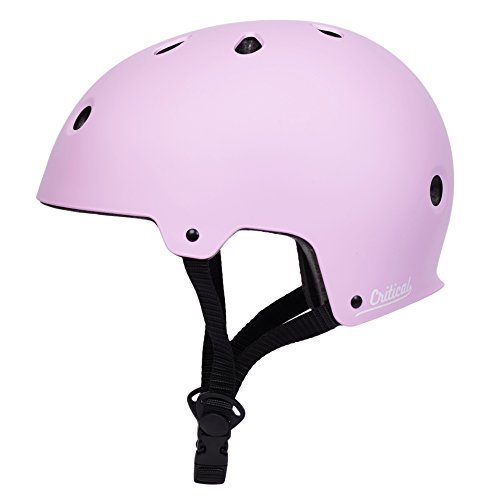 Critical Cycles Classic Commuter Bike/Skate/Multi-Sport CM-2 Helmet with 11 Vents, Matte Barely Pink, Medium: 55-59 cm / 21.75