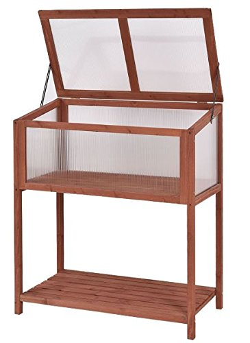 K/&A Company Wooden Cold Frame Raised Greenhouse Garden Outdoor ...