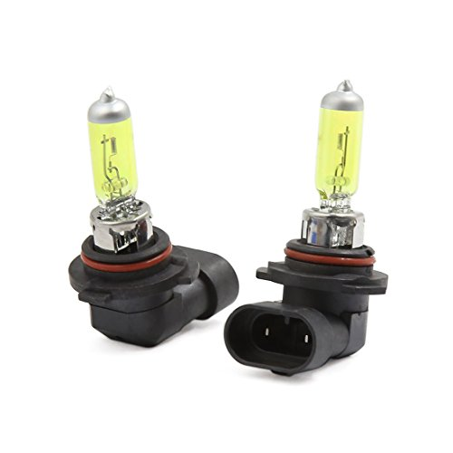 uxcell 2 Pcs 9006 HB4 Yellow 3000K Halogen Fog Driving Light
