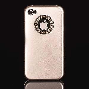 TY- caja dura del cromo de aluminio duro del diamante para el iphone 4/4s (colores surtidos) , plata
