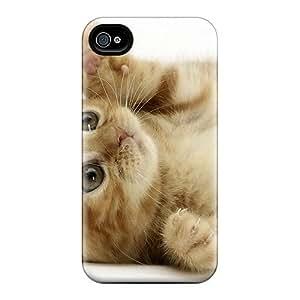 High Grade DaMMeke Flexible Tpu Case For Iphone 4/4s - Cat