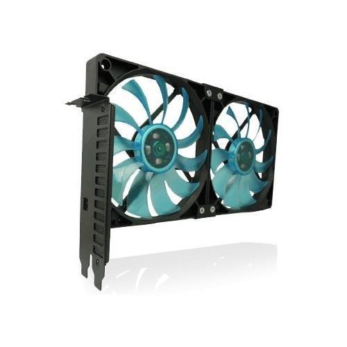 Gelid SL-PCI-02 Accessories PCI Slot Fan Holder * 2 x Slim 12 UV Blue Fan