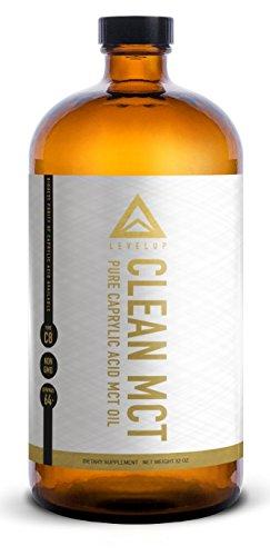 CLEAN MCT - 100% Pure C8 Caprylic Acid MCT Oil - Instantly Converts into Ketones - Most Ketogenic Medium Chain Triglycerides - Keto Paleo Vegan Halal ✮ NON GMO ✮ GLASS BOTTLE ✮ 32oz