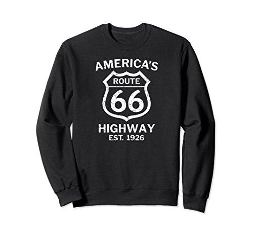 Unisex Historical Route 66 America's Highway Grunge Sweatshirt 2XL - 50 Us Rte