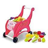 Boomnow Simulation Shopping Cart Toy, Kids Shopping Cart for Toy Grocery, Kids Supermarket Cart, Pretend Play Toy for Toddlers