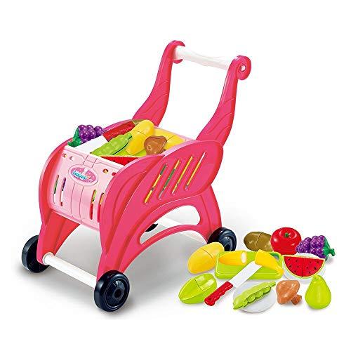 HIGHMIGOU Children's Toys Sale Online Simulation of Supermarket Shopping Cart Trolleys Toys Children's Toy Car (Multicolor) from HIGHMIGOU