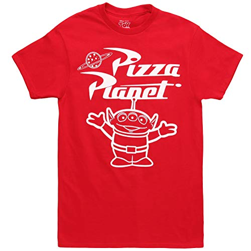 Toy Story Tonal Pizza Planet Alien Adult T-Shirt - Red (X-Large)