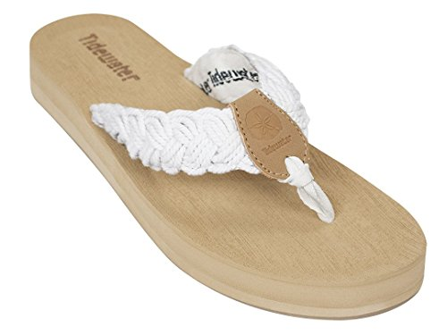 Tidewater Womens Nantucket Sandals White W7