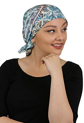 "Price comparison product image Chemo Scarves for Women Head Scarf Wrap Headscarf Cancer Headwear 27"" Square (Twilight Teal)"
