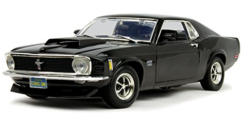 1970 Ford Mustang Boss 429, Black - Motormax 73154 - 1/18 Scale Diecast Model Toy Car ()
