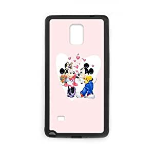 samsung galaxy note4 phone case Black Mickey-Mouse-and-Minnie-Mouse FFK8030244