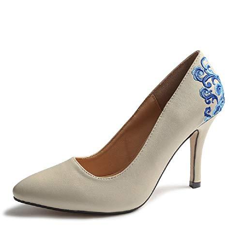 premium selection adbaf 4b745 Per Promotore   tutte le scarpe per la vendita delle donne Qiusa Scarpe con  tacco alto blu e bianche con tacco a spillo da donna (Colore   Bianca, ...