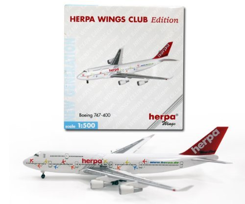 AIRCRAFT MODEL 2679 HERPA FANTASY BOEING B-747-400, used for sale  Delivered anywhere in USA