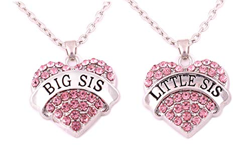Charm.L Grace Matching Necklaces Set, pink-2pcs