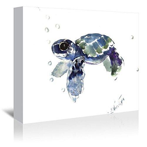 Americanflat Babe Sea Turtle Gallery Wrapped Canvas Artwork by Suren Nersisyan 16 X 20 X 1.5 [並行輸入品]   B07GZJX4YR