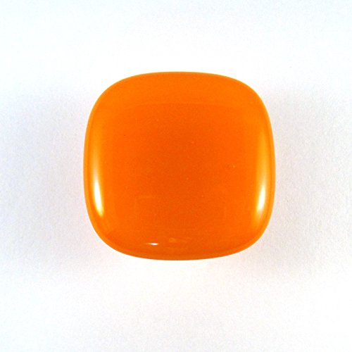 Vivid Orange Glass Cabinet Knob - Colormax Collection (118 colors) Rounded Square Orange Glass Knob