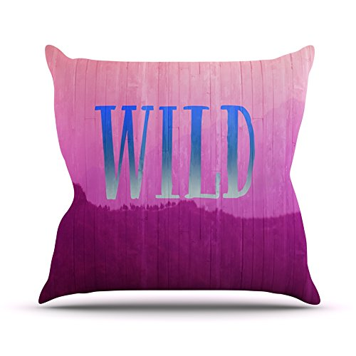 KessインハウスCatherine McDonald「Wild」ピンクパープルThrow枕 16 by 16-Inch CM1056APW02 16 by 16-Inch  B00SKRXBTC