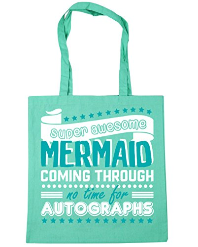 10 Mint Tote Shopping For No Coming Awesome 42cm Mermaid Beach Through Time x38cm Autographs Gym HippoWarehouse Bag Super litres pxq4aSwWU