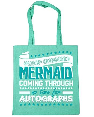 Through Autographs 10 Awesome Tote Beach Shopping 42cm Time Mint litres HippoWarehouse Bag Super For x38cm No Coming Gym Mermaid aIBqxR8