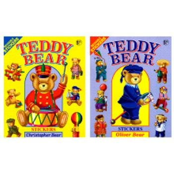 Teddy Bear Sticker Book (72 Pieces) - Over-Sized (12