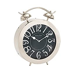 Benzara Bold and Bubbly Stainless Steel Table Clock