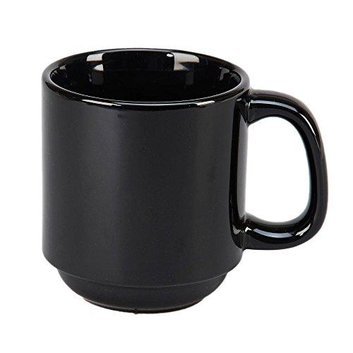 Vertex China SM-BK Vista Summit Stackable Mug, 3-1/4