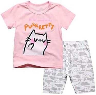 ファッションガールパジャマソフトコットンキッズ夏の子供の寝間着