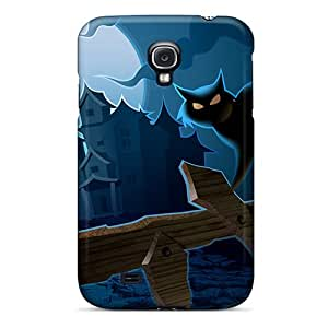 DAMillers Qte1081sQNj Case For Galaxy S4 With Nice Halloween Cat Appearance