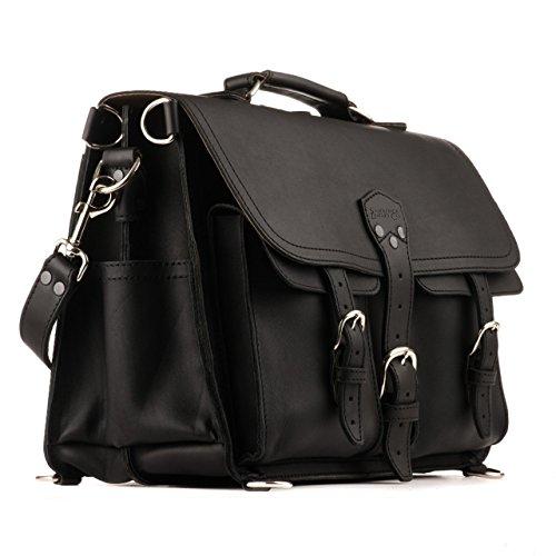 Saddleback Leather Co. Front Pocket Full Grain Leather Travel Briefcase Bag for Men Includes 100 Year Warranty