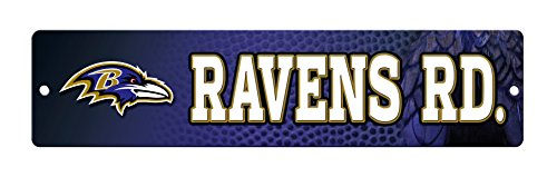 NFL Baltimore Ravens 16-Inch Plastic Street Sign Décor