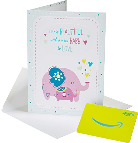 Amazon.com Gift Card in a Premium Greeting Card by American Greetings - Baby Elephant