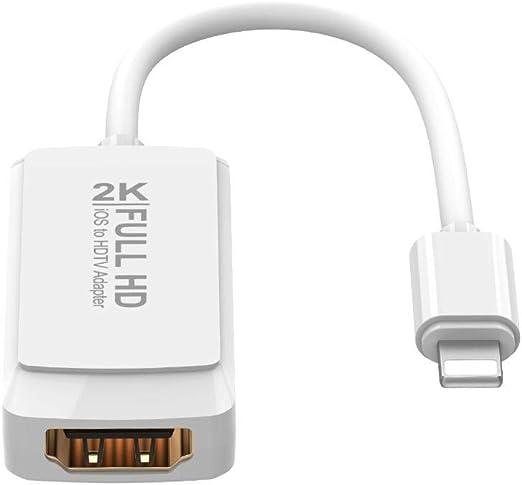 HUZHAO Cable de iPhone a TV, Adaptador de iPhone a HDMI, AV ...