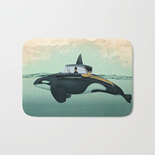 Ashasds Cushion The Turnpike Cruiser Of The Sea Killer Whale Animal Style Submarine Home Decorations Rug Rectangle Size 18x30,Multi-function Indoor Outdoor Beautiful Doormat